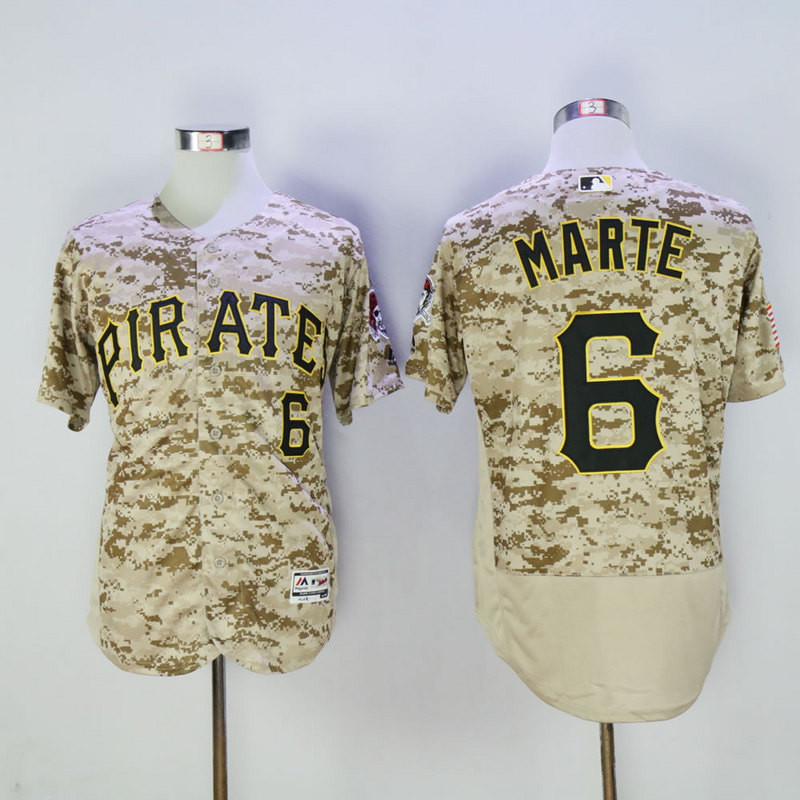 Pirates 6 Starling Marte Camo Flexbase Jersey