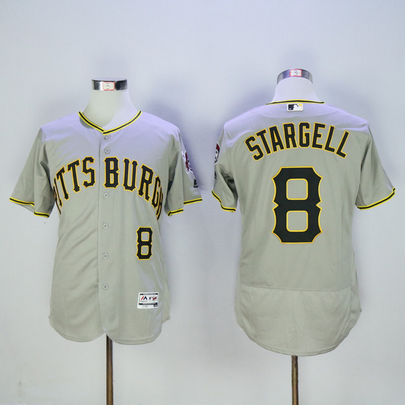 Pirates 8 Willie Stargell Gray Flexbase Jersey
