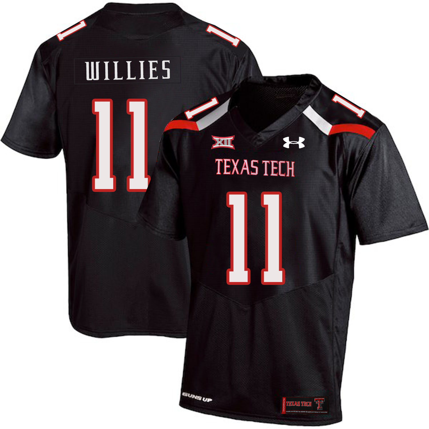 Texas Tech Red Raiders 11 Derrick Willies Black College Football Jersey