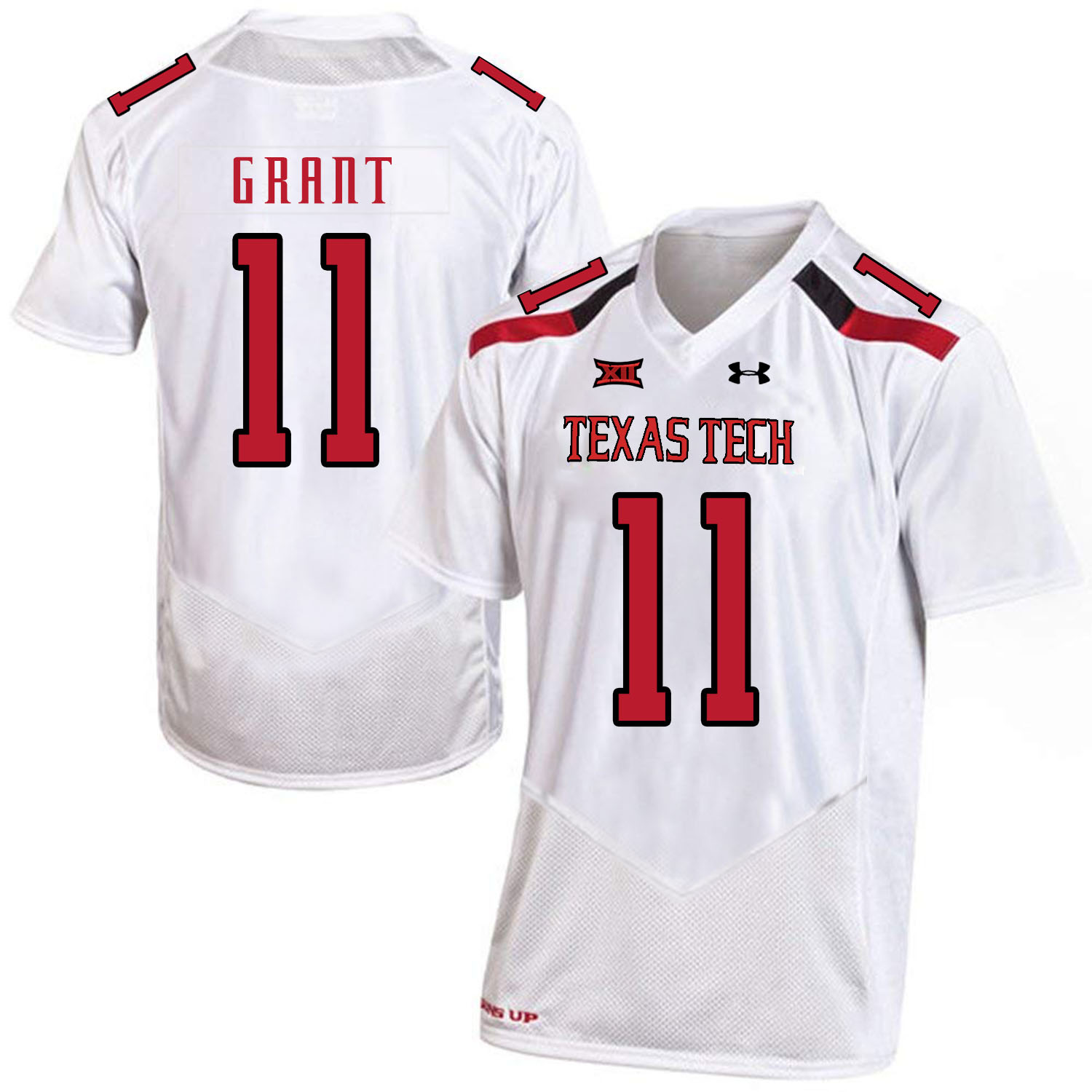 Texas Tech Red Raiders 11 Jakeem Grant White College Football Jersey