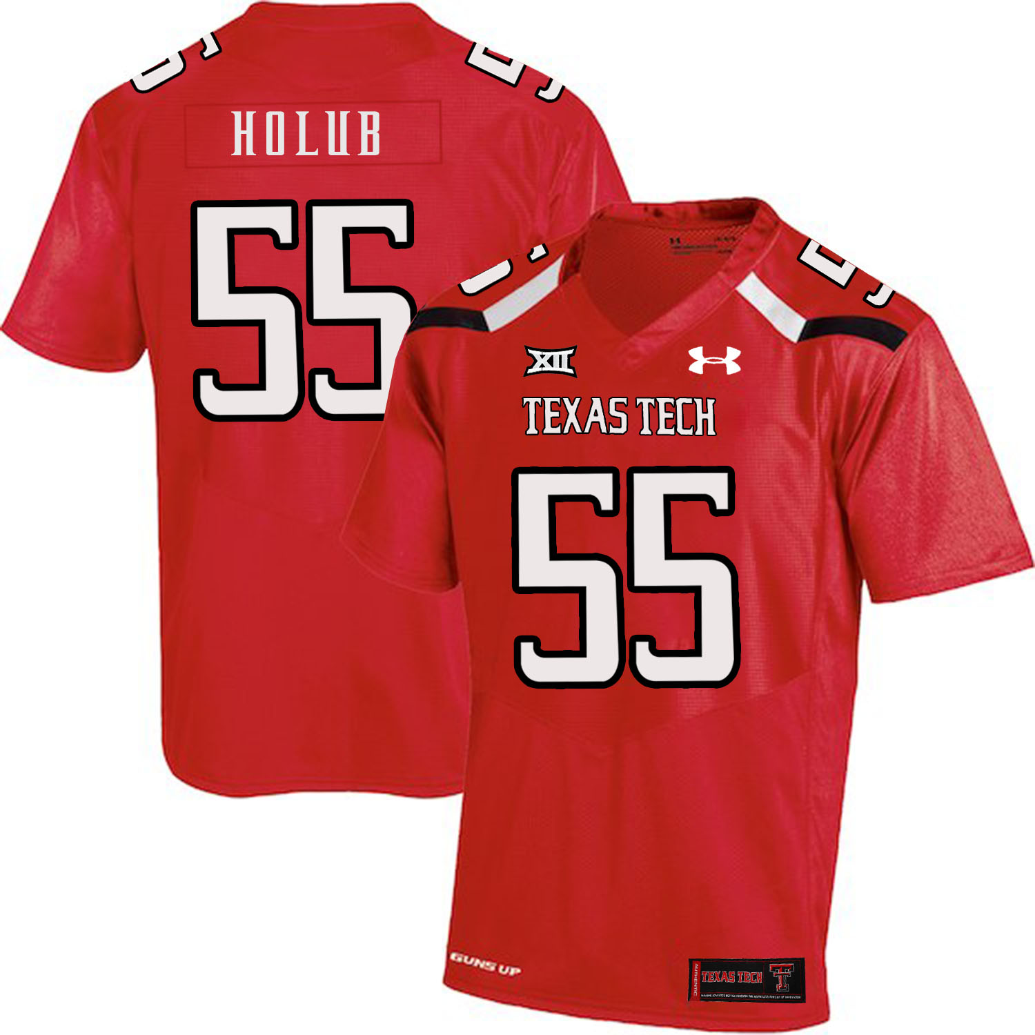 Texas Tech Red Raiders 55 E.J. Holub Red College Football Jersey