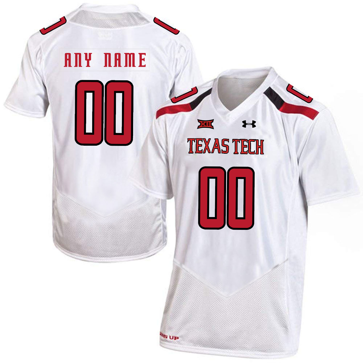 Texas Tech Red Raiders White Men's Customized College Football Jersey