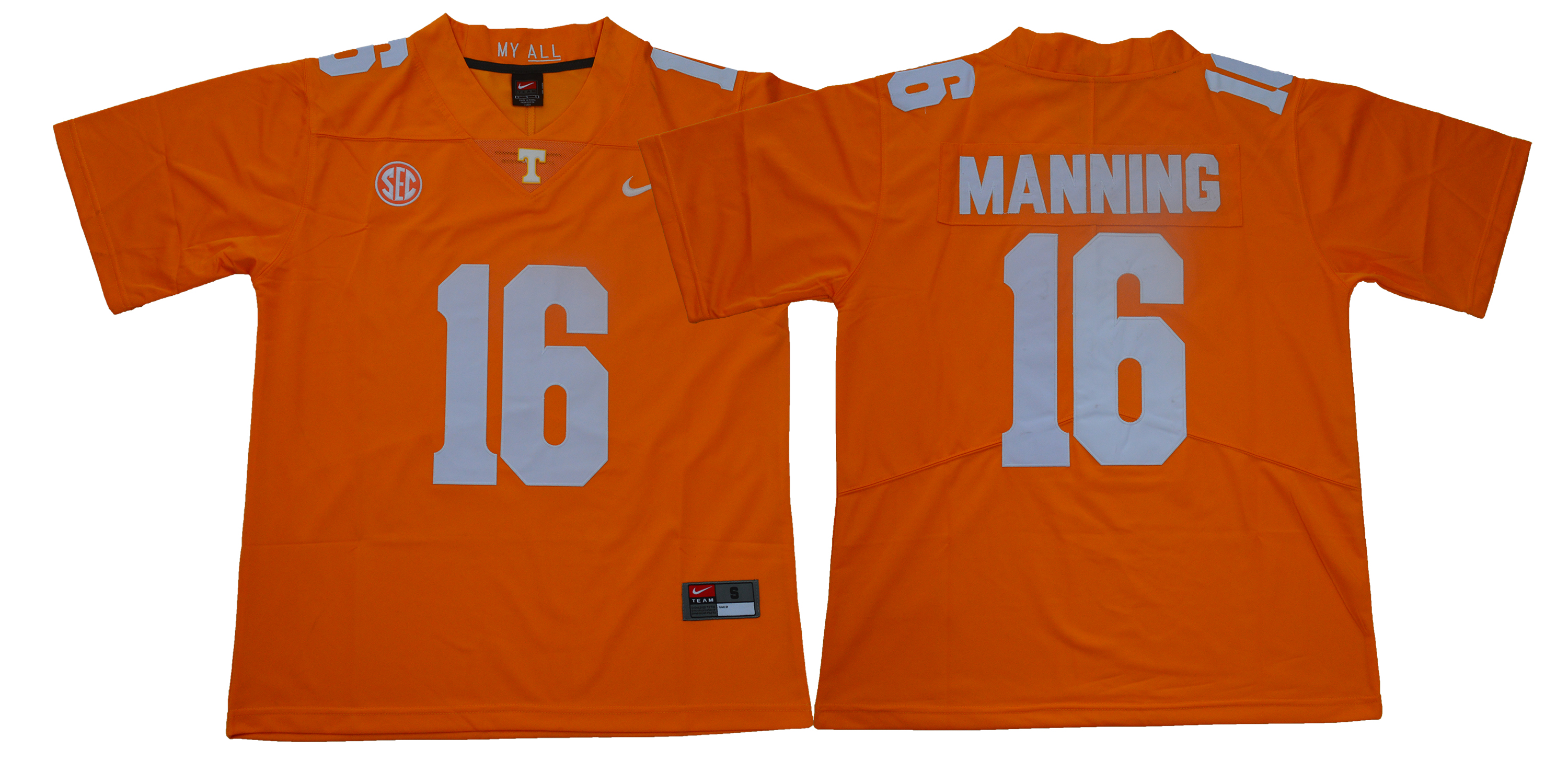 Tennessee Volunteers 16 Peyton Manning Orange Nike College Football Jersey