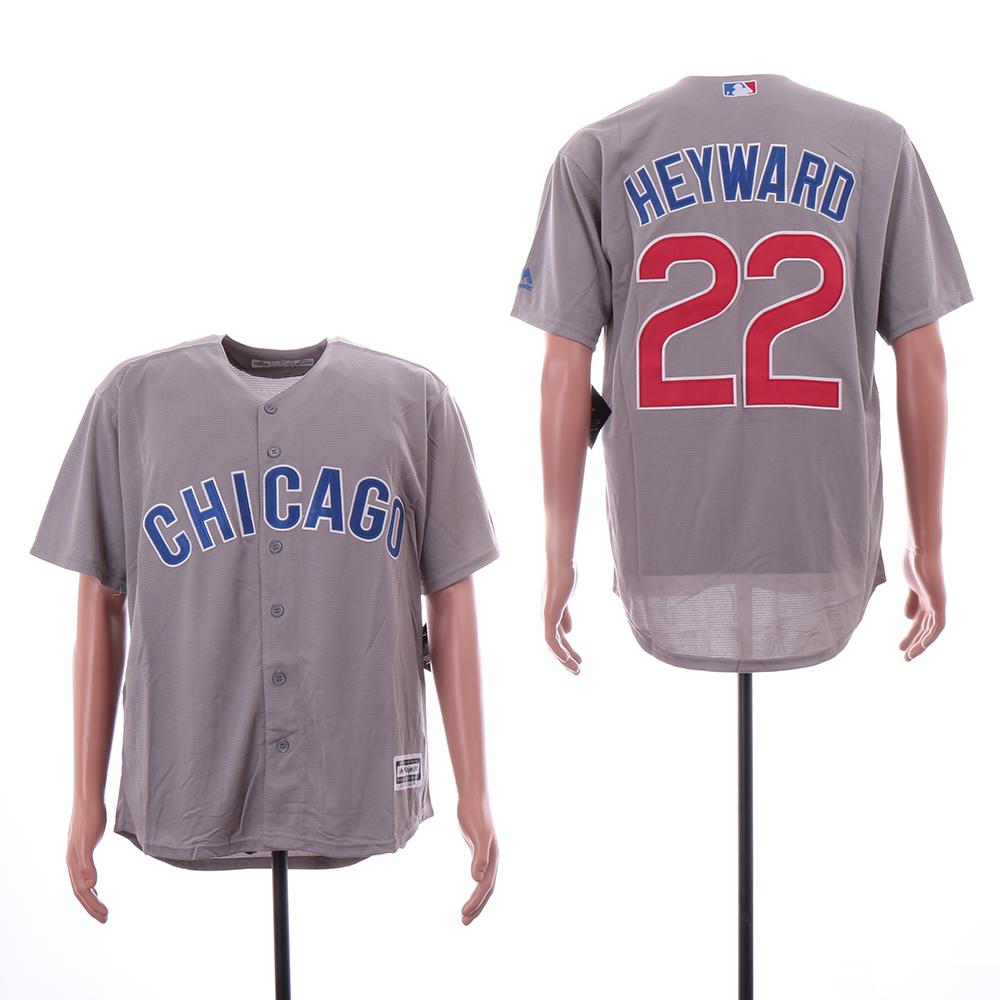 Cubs 22 Jason Heyward Gray Cool Base Jersey