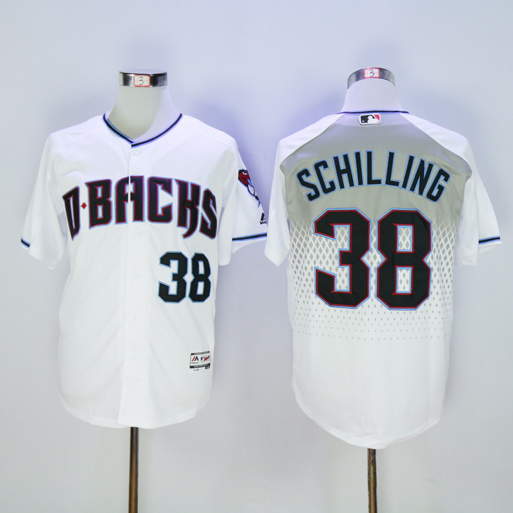 Diamondbacks 38 Curt Schilling White Teal Flexbase Jersey