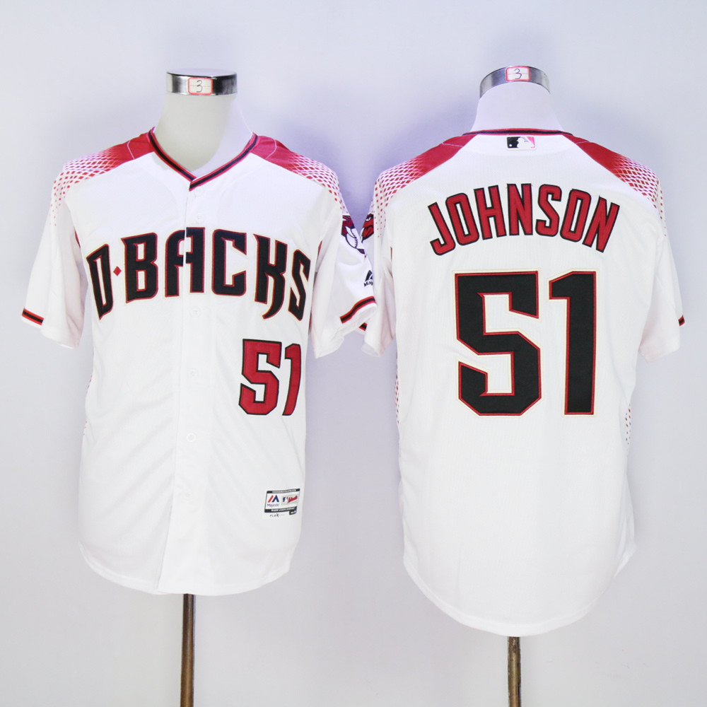 Diamondbacks 51 Randy Johnson White Flexbase Jersey