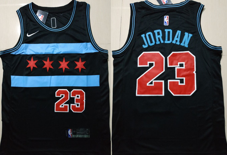 Bulls 23 Michael Jordan Black 2018-19 City Edition Nike Swingman Jersey