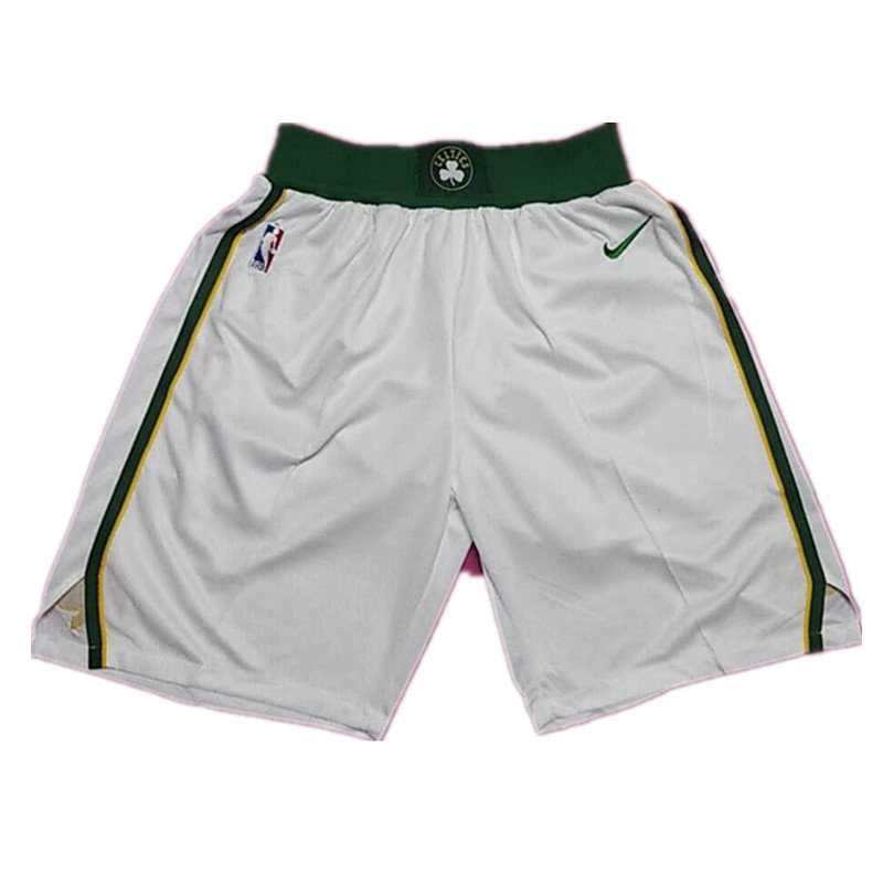 Celtics White 2018-19 City Edition Nike Swingman Shorts