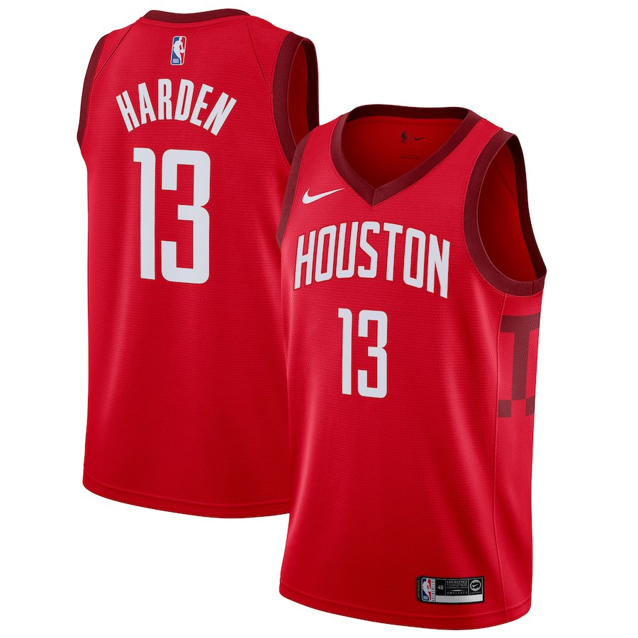 Rockets 13 James Harden White 2018-19 Earned Edition Nike Swingman Jersey