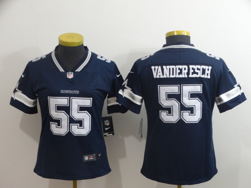 Nike Cowboys 55 Leighton Vander Esch Navy Women Vapor Untouchable Limited Jersey