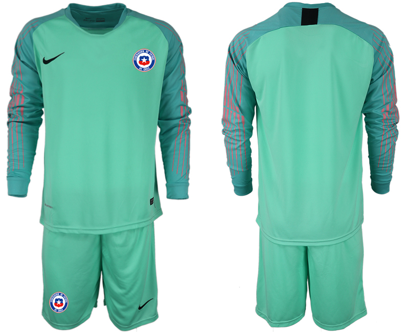 2018-19 Chile Green Long Sleeve Goalkeeper Soccer Jersey