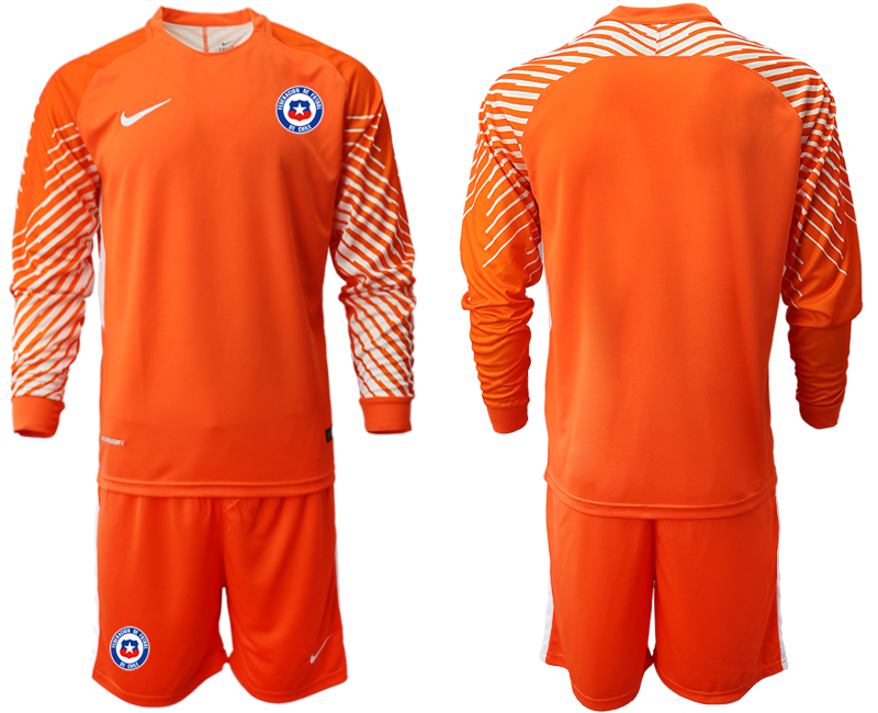 2018-19 Chile Orange Long Sleeve Goalkeeper Soccer Jersey