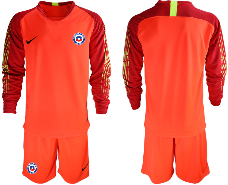 2018-19 Chile Red Long Sleeve Goalkeeper Soccer Jersey