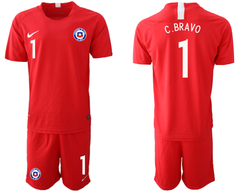 2018-19 Chile 1 C. BRAVO Home Soccer Jersey