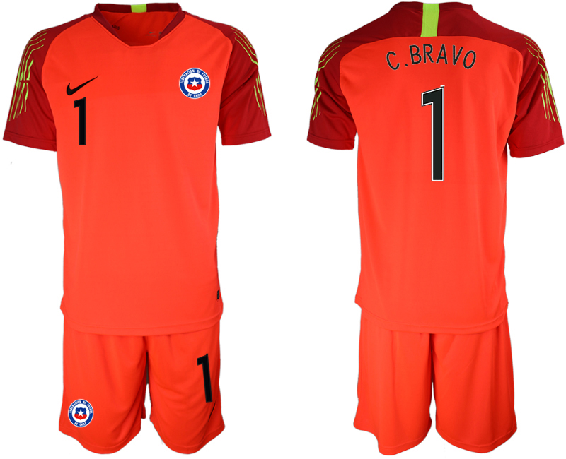 2018-19 Chile 1 C.BRAVO Red Goalkeeper Soccer Jersey