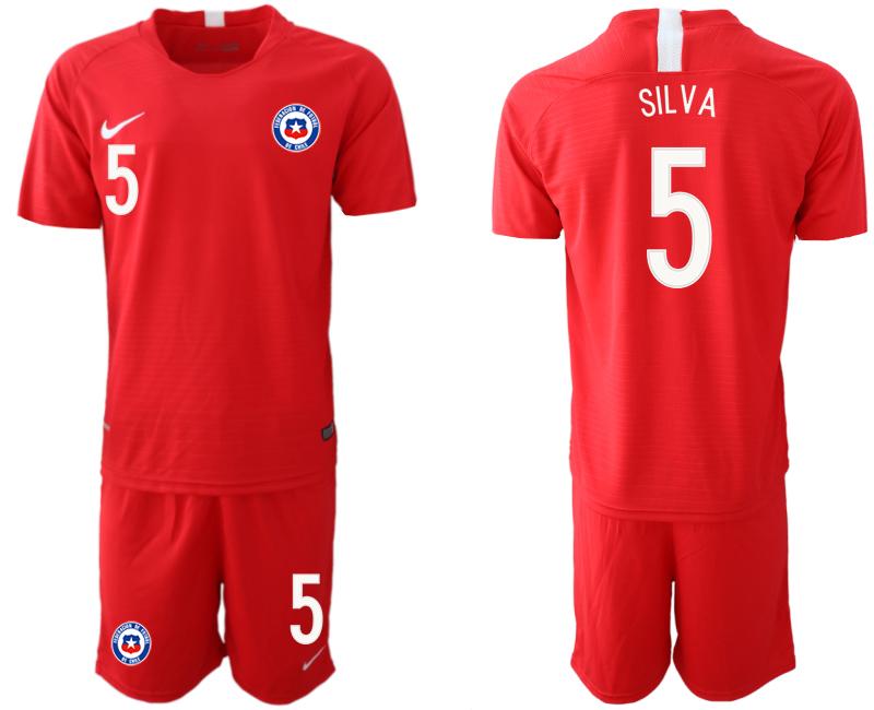 2018-19 Chile 5 SILVA Home Soccer Jersey