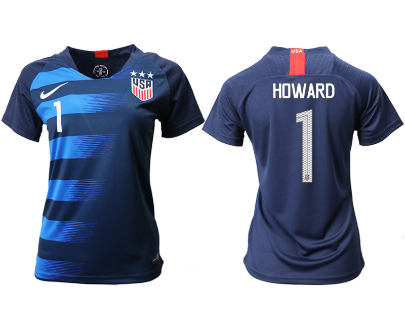 2018-19 USA 1 HOWARD Away Women Soccer Jersey
