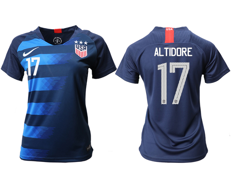 2018-19 USA 17 ALTIDORE Away Women Soccer Jersey