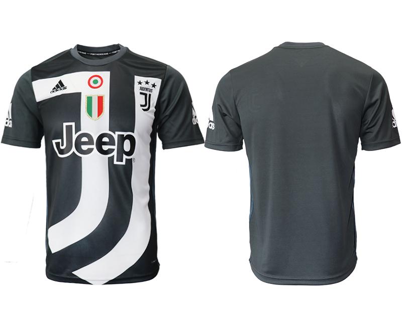 2018-19 Juventus Black Training Soccer Jersey