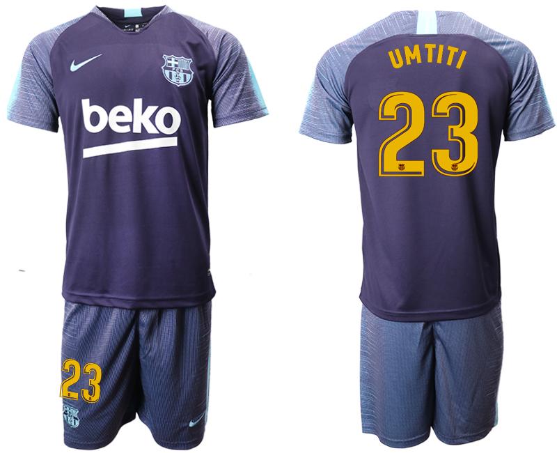 2018-19 Barcelona 23 UMTITI Dark Blue Training Soccer Jersey