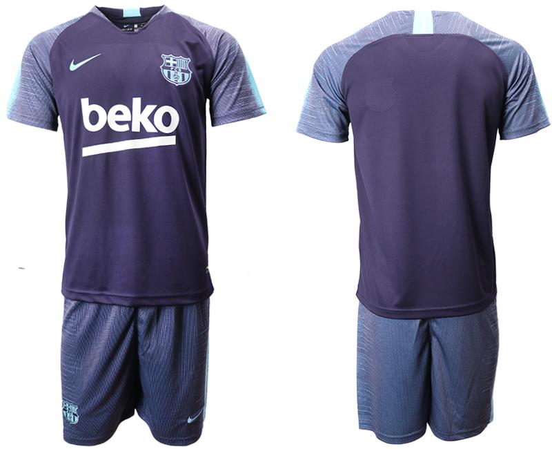 2018-19 Barcelona Dark Blue Training Soccer Jersey