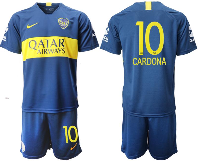 2018-19 Boca Juniors 10 CARDONA Home Soccer Jersey