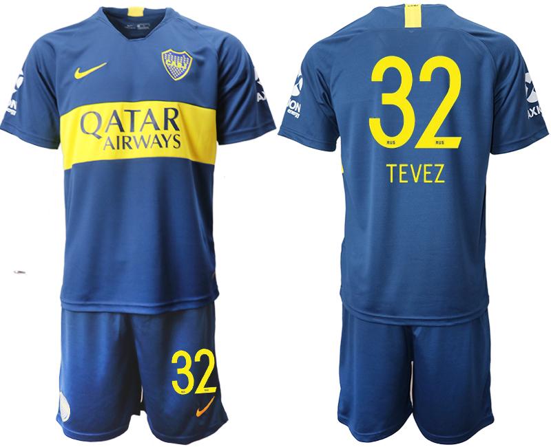2018-19 Boca Juniors 32 TEVEZ Home Soccer Jersey
