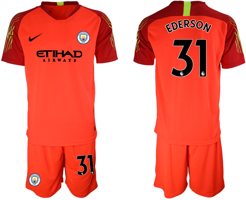 2018-19 Manchester City 31 EDERSON Black Goalkeeper Soccer Jersey(2)