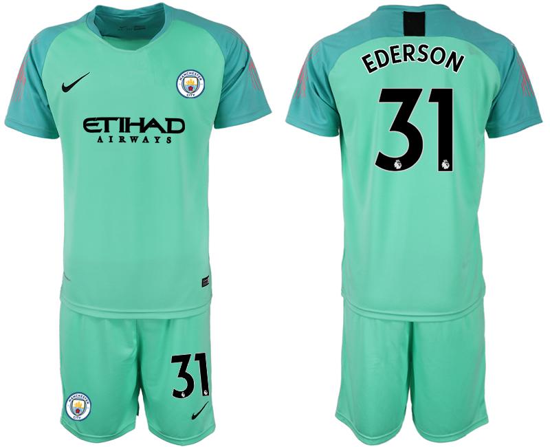2018-19 Manchester City 31 EDERSON Green Goalkeeper Soccer Jersey