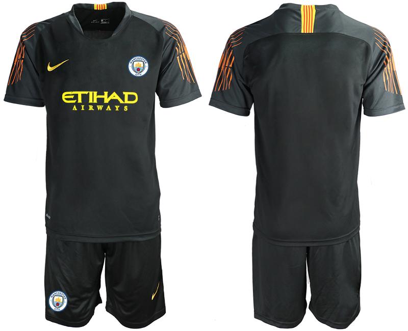 2018-19 Manchester City Black Goalkeeper Soccer Jersey