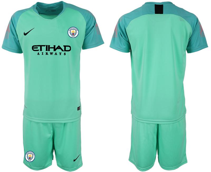 2018-19 Manchester City Green Goalkeeper Soccer Jersey