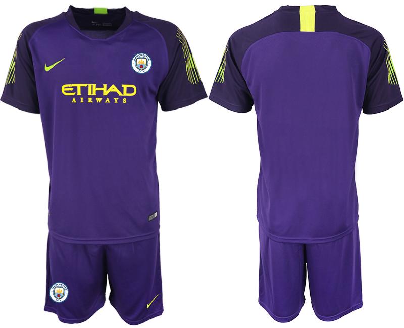 2018-19 Manchester City Purple Goalkeeper Soccer Jersey