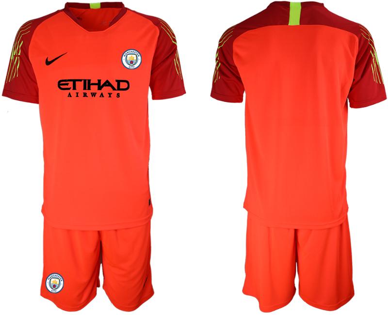 2018-19 Manchester City Red Goalkeeper Soccer Jersey