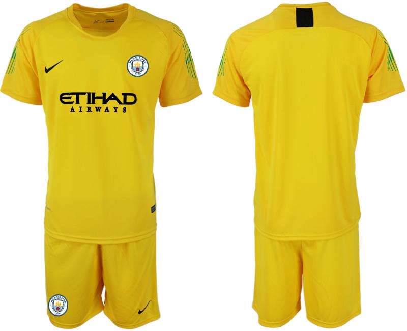 2018-19 Manchester City Yellow Goalkeeper Soccer Jersey