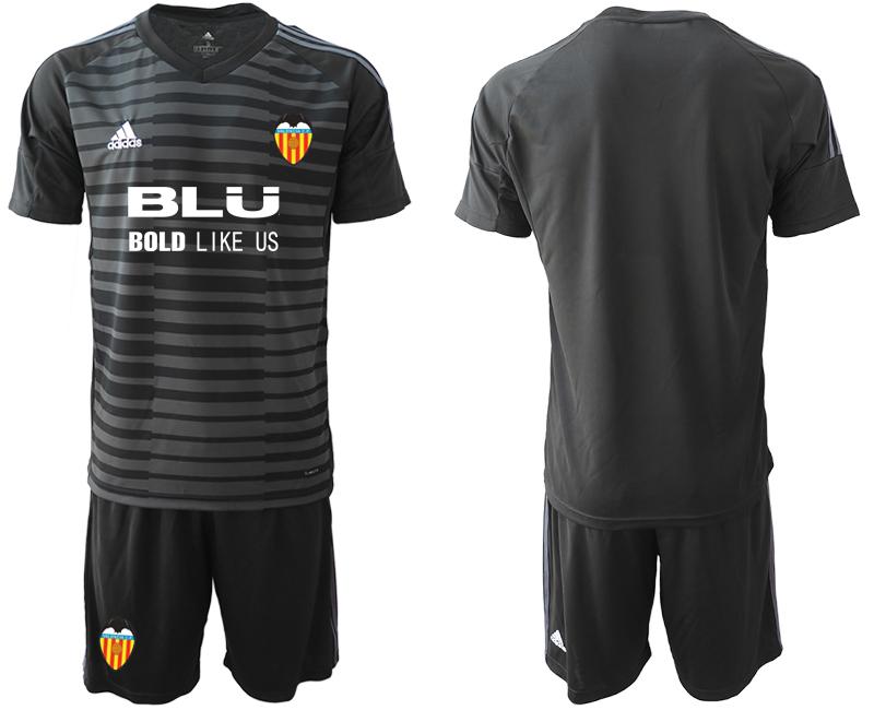 2018-19 Valencia Black Goalkeeper Soccer Jersey