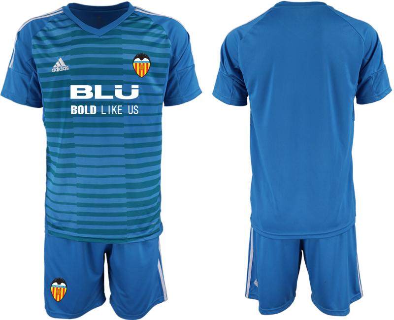2018-19 Valencia Blue Goalkeeper Soccer Jersey