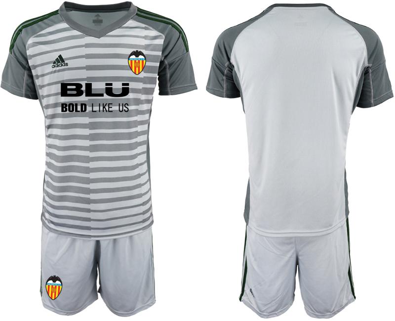 2018-19 Valencia Gray Goalkeeper Soccer Jersey