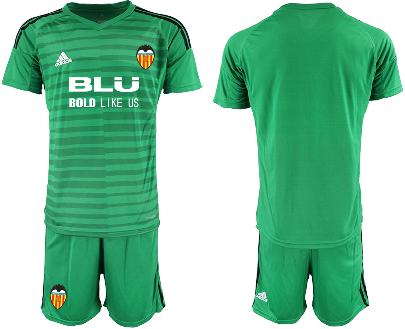 2018-19 Valencia Green Goalkeeper Soccer Jersey