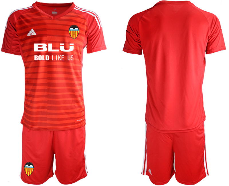 2018-19 Valencia Red Goalkeeper Soccer Jersey