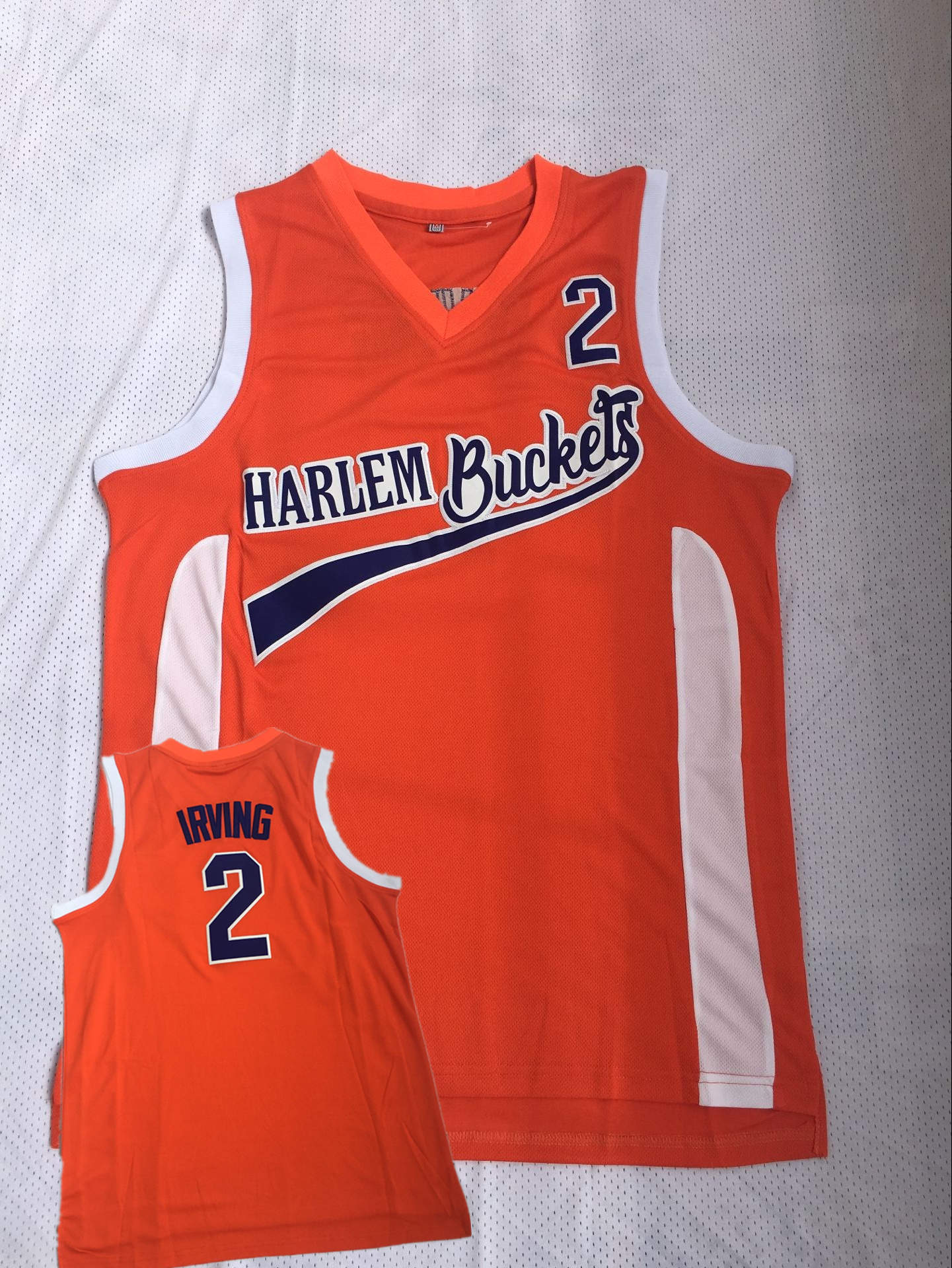 Harlem Buckets 2 Irving Orange Uncle Drew Movie Basketball Jersey