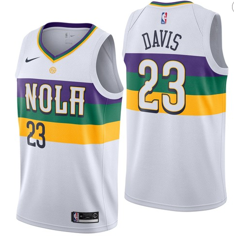 40a8ce4c890 Pelicans 23 Anthony Davis White 2018-19 City Edition Nike Swingman Jersey