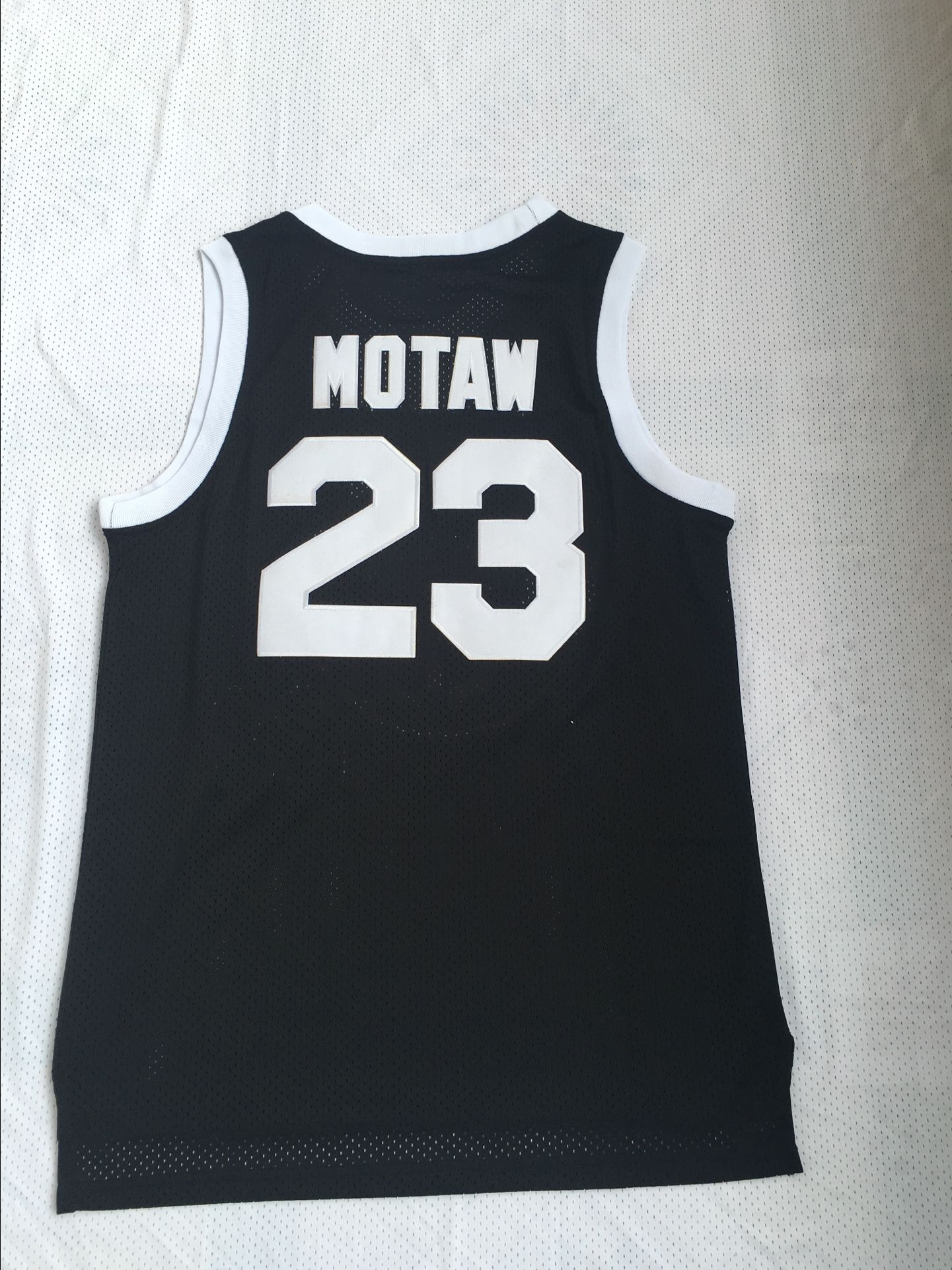 Tournament ShootOut 23 Motaw Black Throwback Movie Basketball Jersey