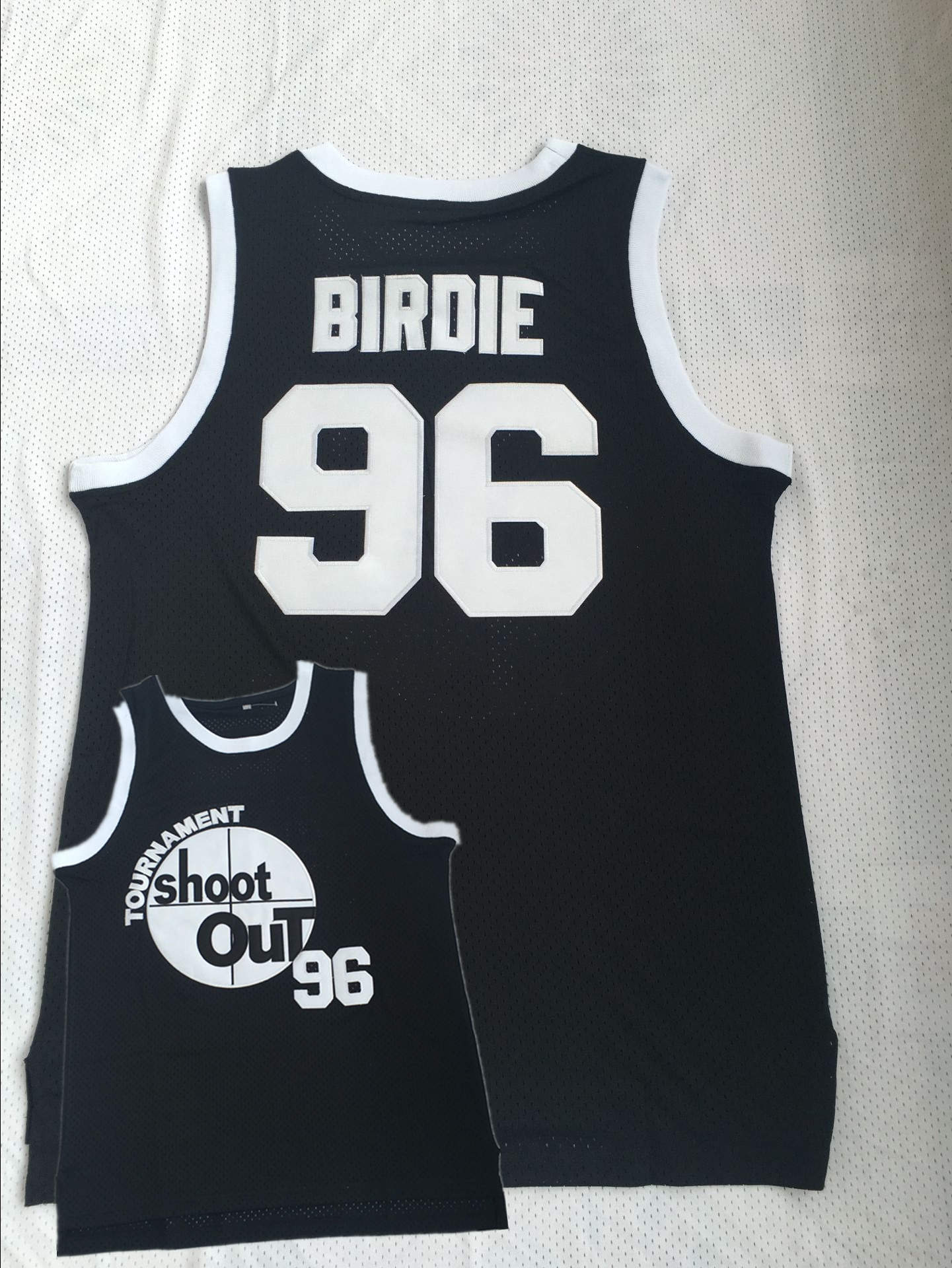 Tournament ShootOut 96 Birdie Black Throwback Movie Basketball Jersey
