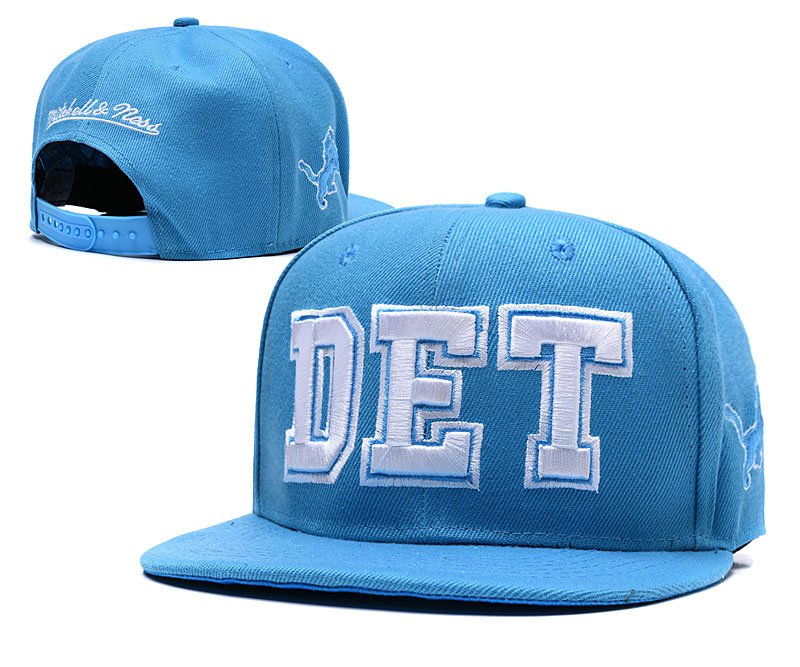 Detroit Lions Light Blue Throwback Adjustable Hat LH