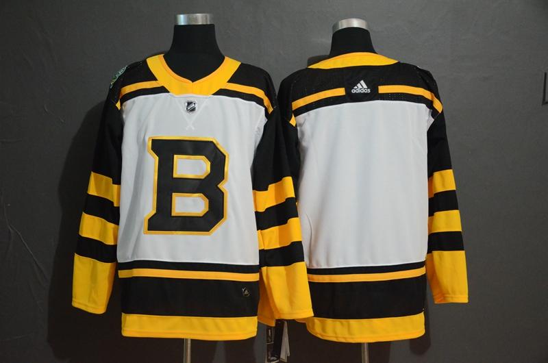 Bruins Blank White 2019 Winter Classic Adidas Jersey