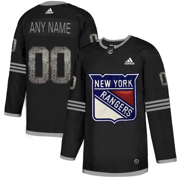 Rangers Black Shadow Logo Print Men's Customized Adidas Jersey