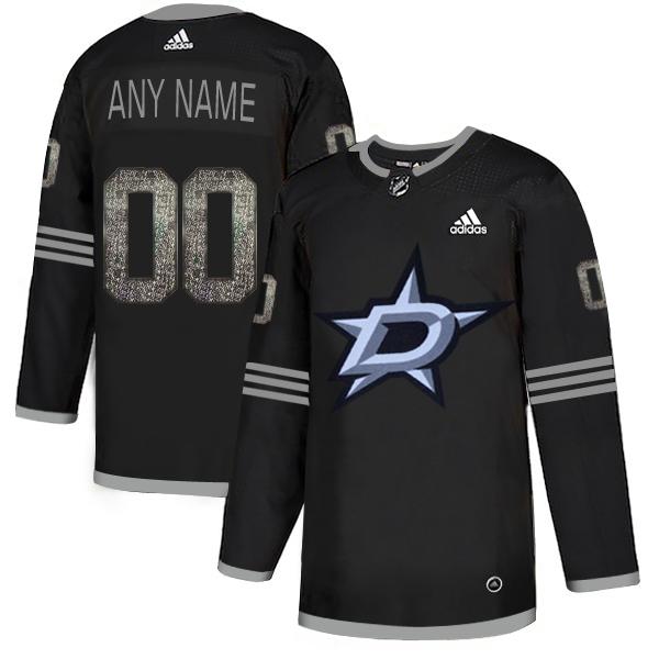 Stars Black Shadow Logo Print Men's Customized Adidas Jersey