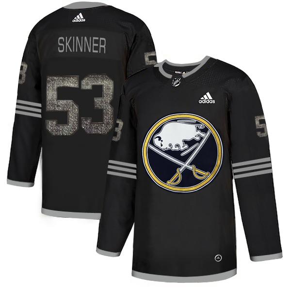 Sabres 53 Jeff Skinner Black Shadow Adidas Jersey
