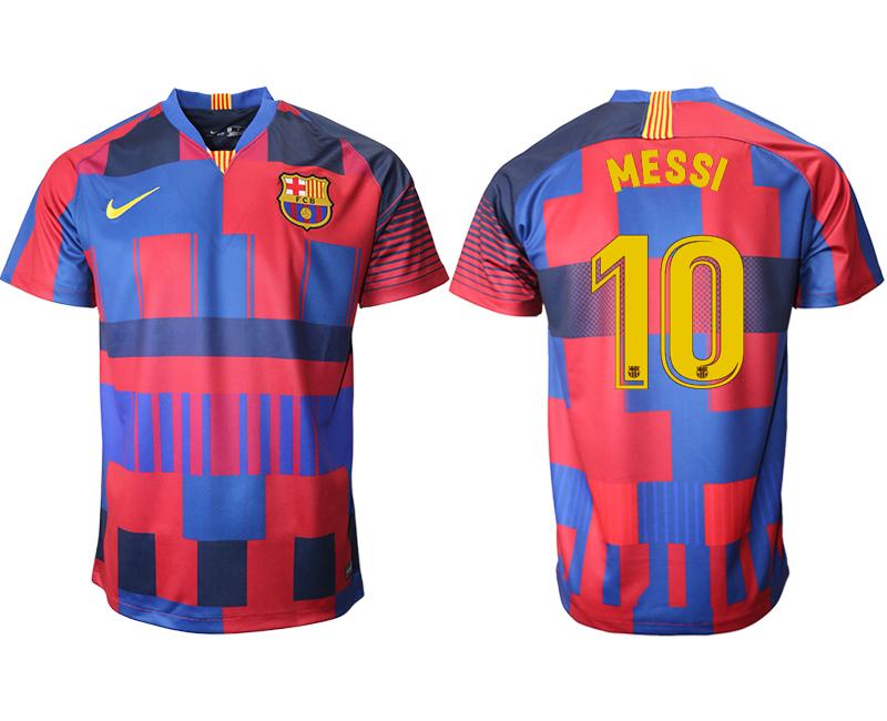 2018-19 Barcelona 10 MESSI 20th Anniversary Stadium Soccer Jersey