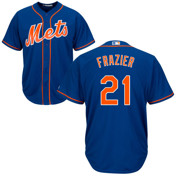 Mets 21 Todd Frazier Blue Cool Base Jersey